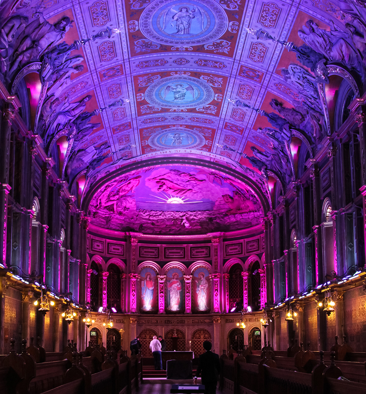 Chapel Lighting Pink LED UK