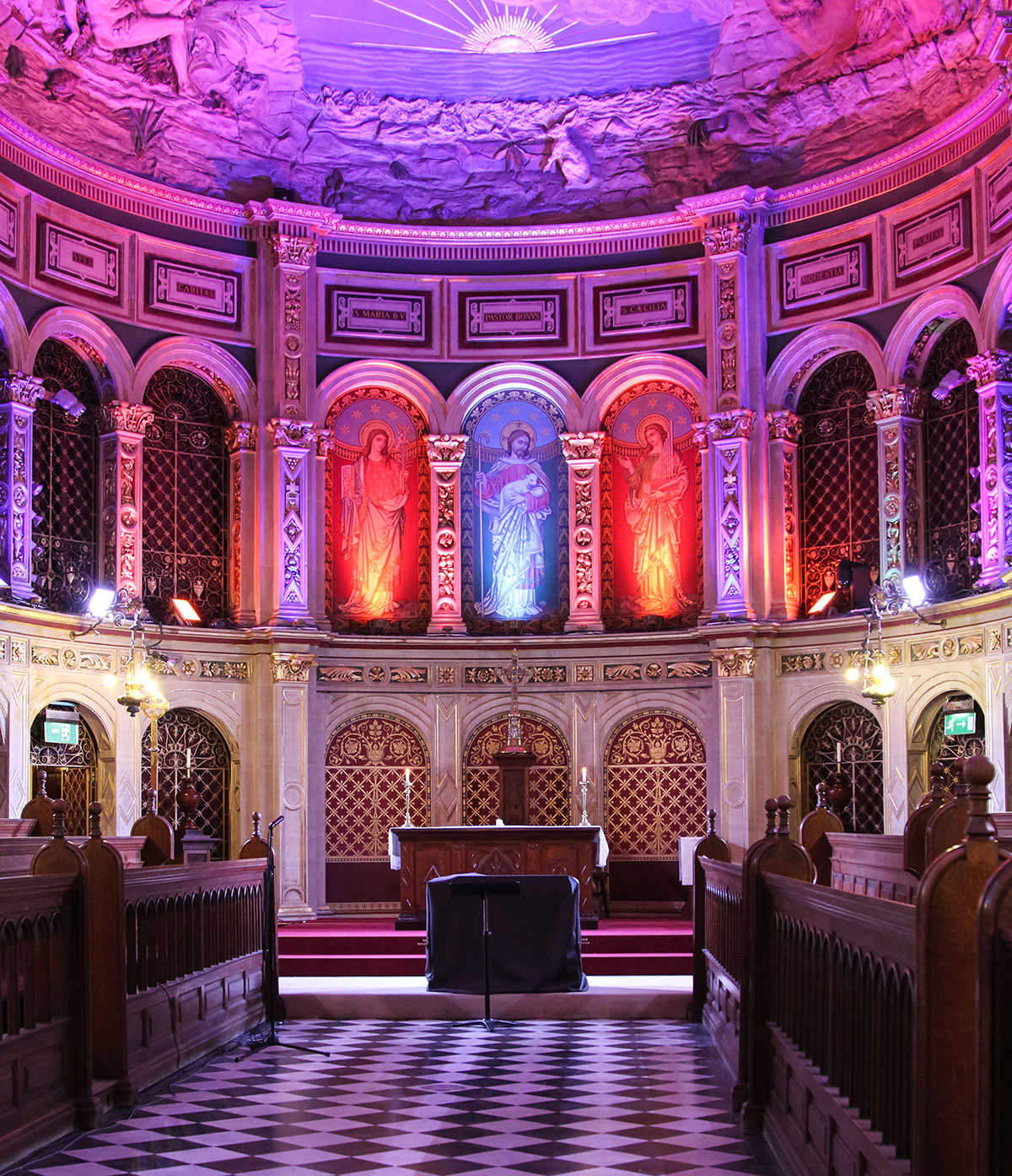 Royal Holloway Chapel Lighting Multicolor LED