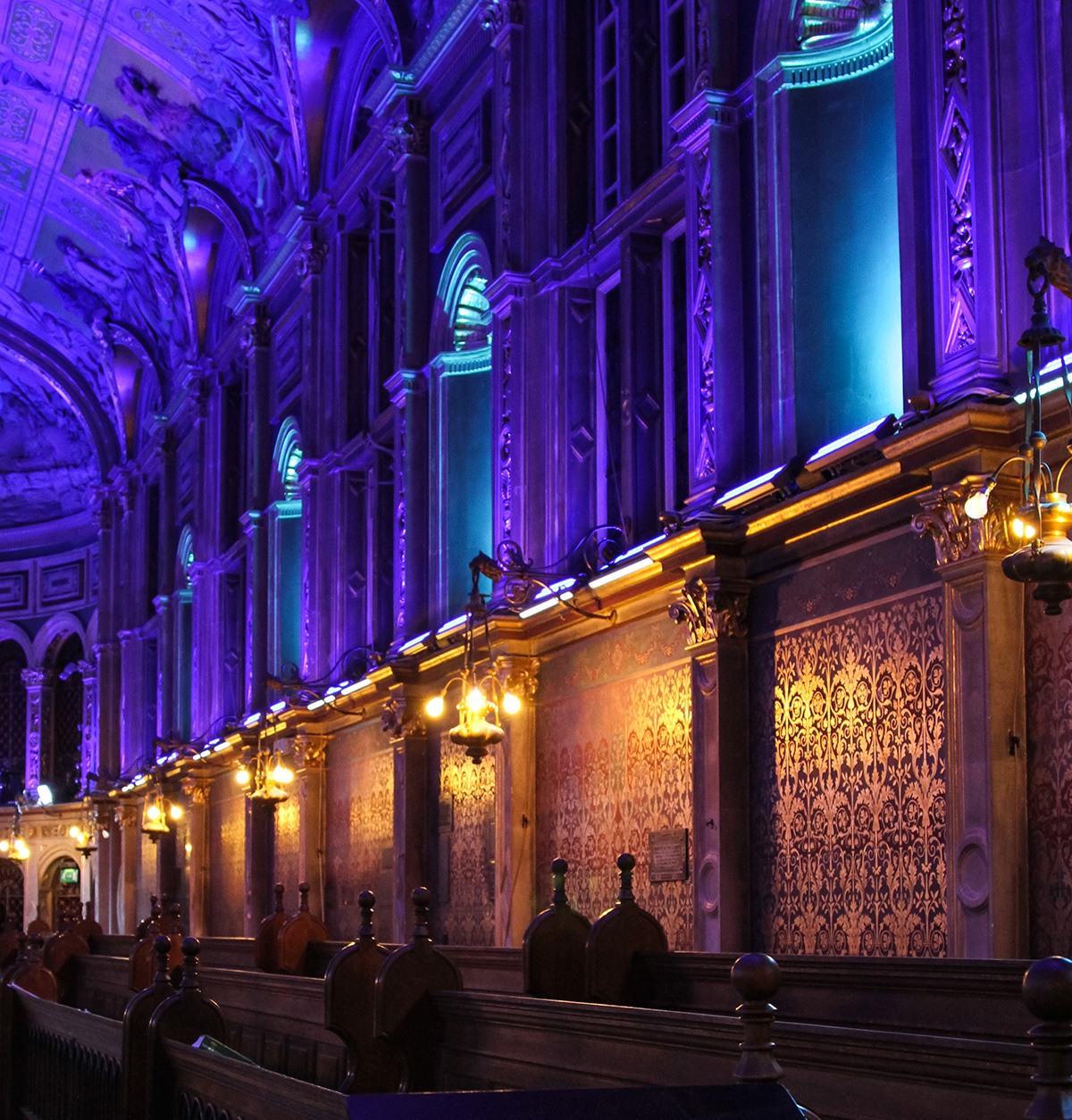Royal Holloway Chapel Lighting Violet LED