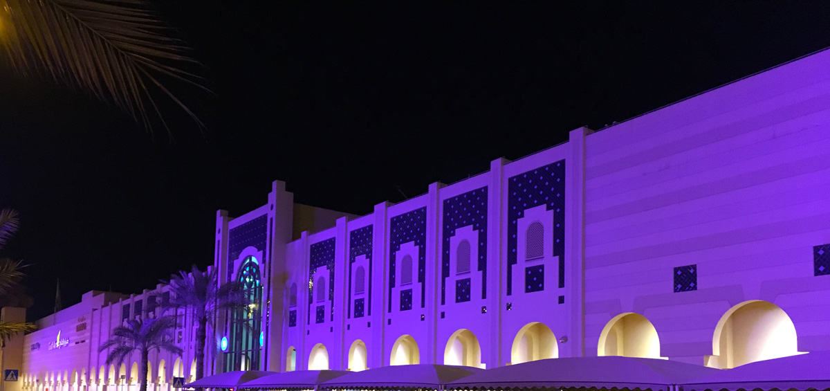 Violet LED Seef Mall Lighting