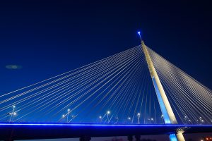 Blue Bridge Lighting Sava River Belgrade