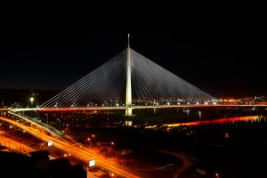 Yellow Bridge Lighting Ada Bridge Belgrade