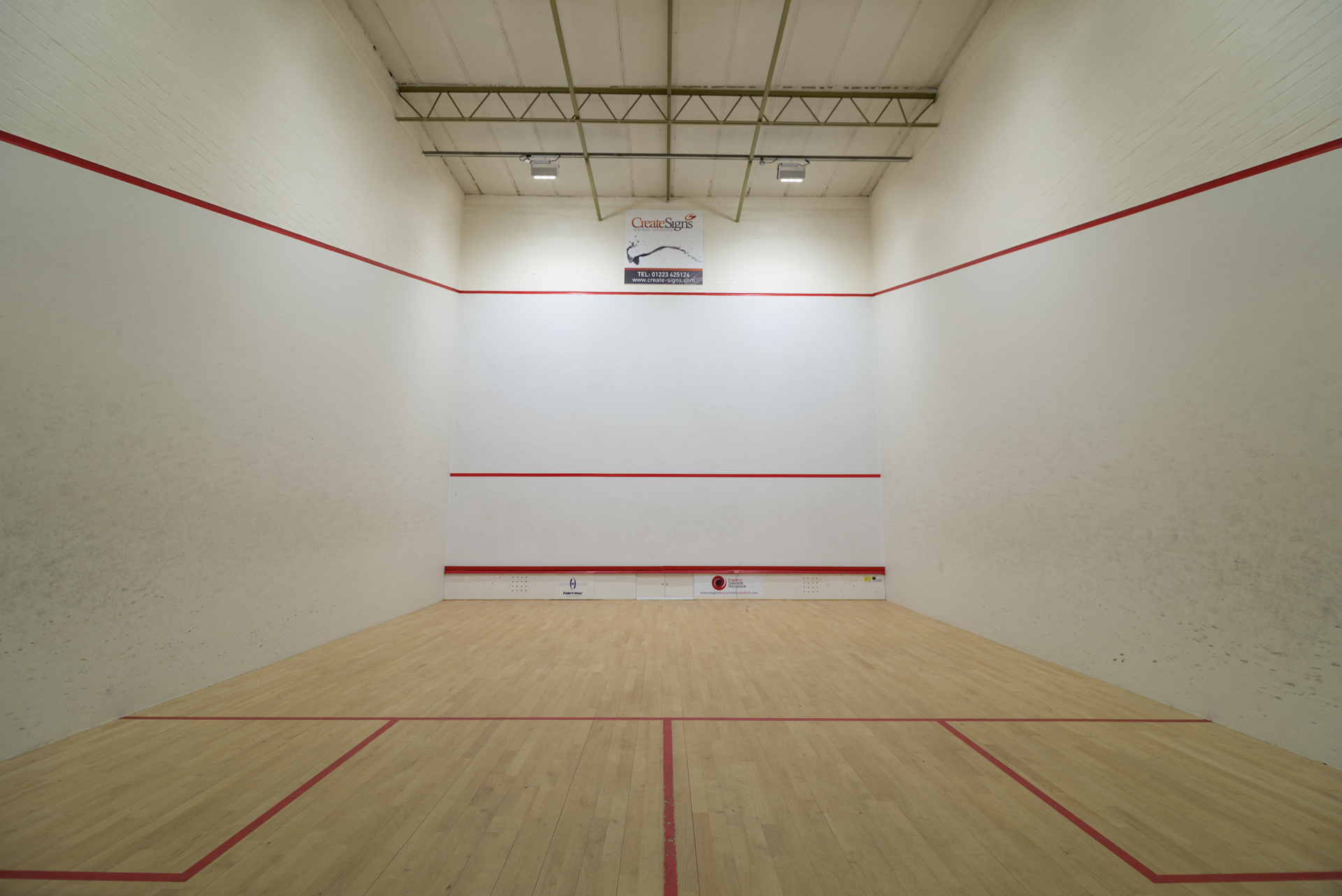 Cambridge Squash Club Squash Court Lighting