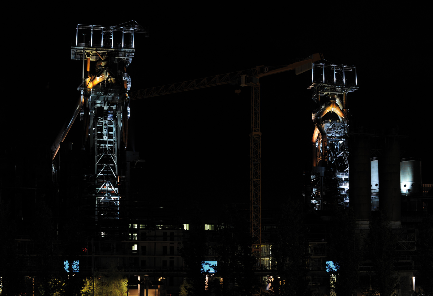 Belval Blast Furnaces lit with Chroma Powerline